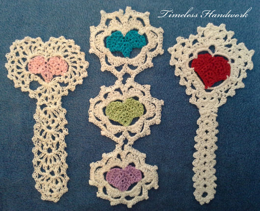 #59 Hearts In Color Bookmarks by Timeless Handwork