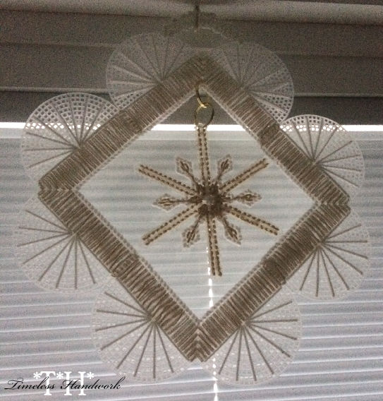 #QF10 Seasonal Window Decor Snowflake 1 by Timeless Handwork