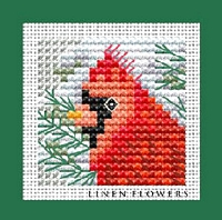 Winter Cardinal Cross Stitch By Quick Finishes Magazine October 2016